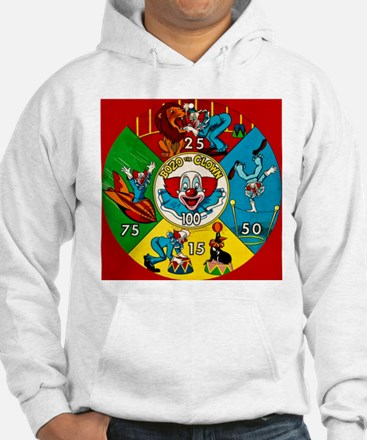 Vintage Toy Clown Cartoon Target Game Hoodie