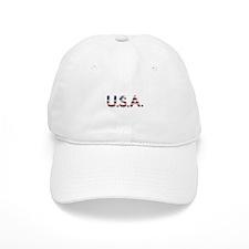 USA in chrome lettering Baseball Baseball Cap