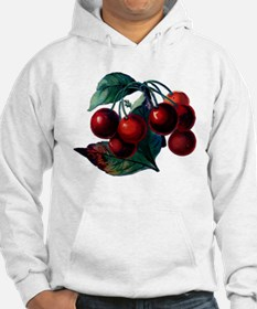 Vintage Cherry Big Red Juicy Cherries Fruit Hoodie