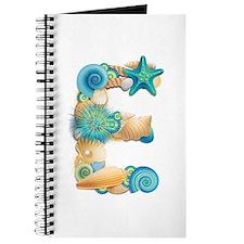Beach Theme Initial E Journal