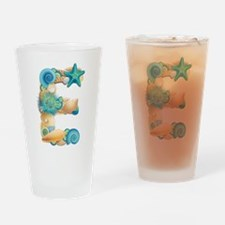 Beach Theme Initial E Drinking Glass