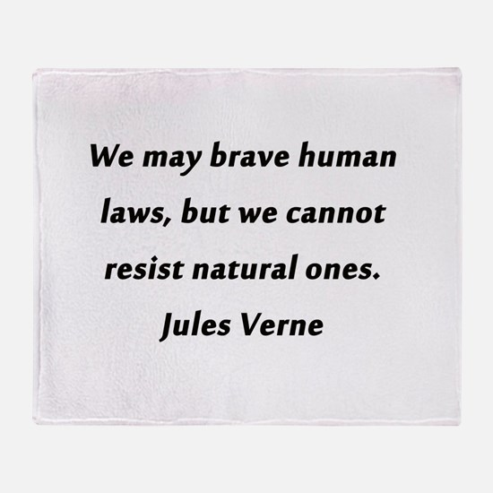 Verne On Natural Laws Throw Blanket