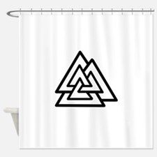 valknot.jpg Shower Curtain