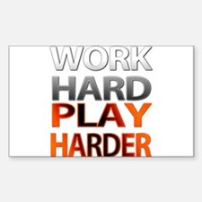 Unique Running in the usa work hard play harder Decal
