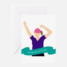 Power Up for PCOS.jpg Greeting Card
