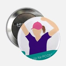 """Power Up for PCOS.jpg 2.25"""" Button"""
