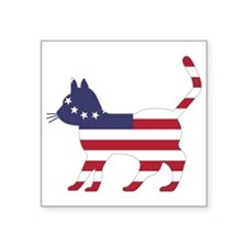 Betsy Ross Flag Cat Icon Sticker