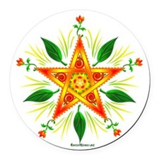 MabonPentacle.png Round Car Magnet