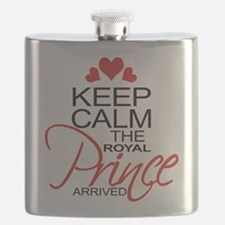 Keep Calm The Royal Prince Arrived Flask