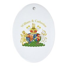 William and Catherine Coat of Arms Ornament (Oval)