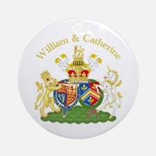 William and Catherine Coat of Arms Ornament (Round