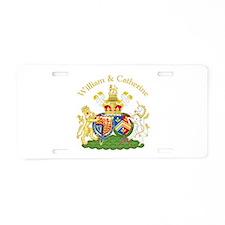 William and Catherine Coat of Arms Aluminum Licens