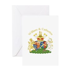 William and Catherine Coat of Arms Greeting Card