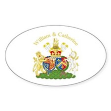 William and Catherine Coat of Arms Decal