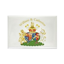 William and Catherine Coat of Arms Rectangle Magne