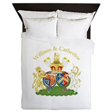 William and Catherine Coat of Arms Queen Duvet