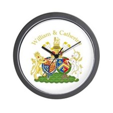 William and Catherine Coat of Arms Wall Clock