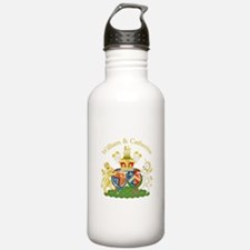 William and Catherine Coat of Arms Water Bottle