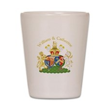 William and Catherine Coat of Arms Shot Glass