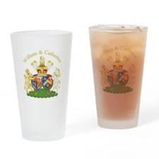 William and Catherine Coat of Arms Drinking Glass