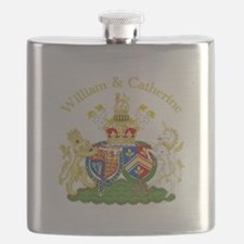 William and Catherine Coat of Arms Flask