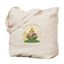 William and Catherine Coat of Arms Tote Bag