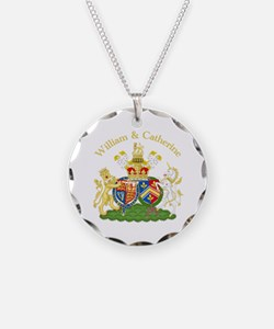 William and Catherine Coat of Arms Necklace