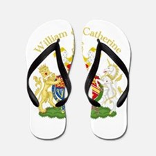 William and Catherine Coat of Arms Flip Flops