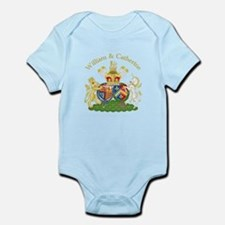 William and Catherine Coat of Arms Infant Bodysuit
