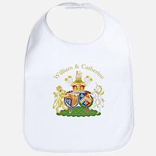 William and Catherine Coat of Arms Bib