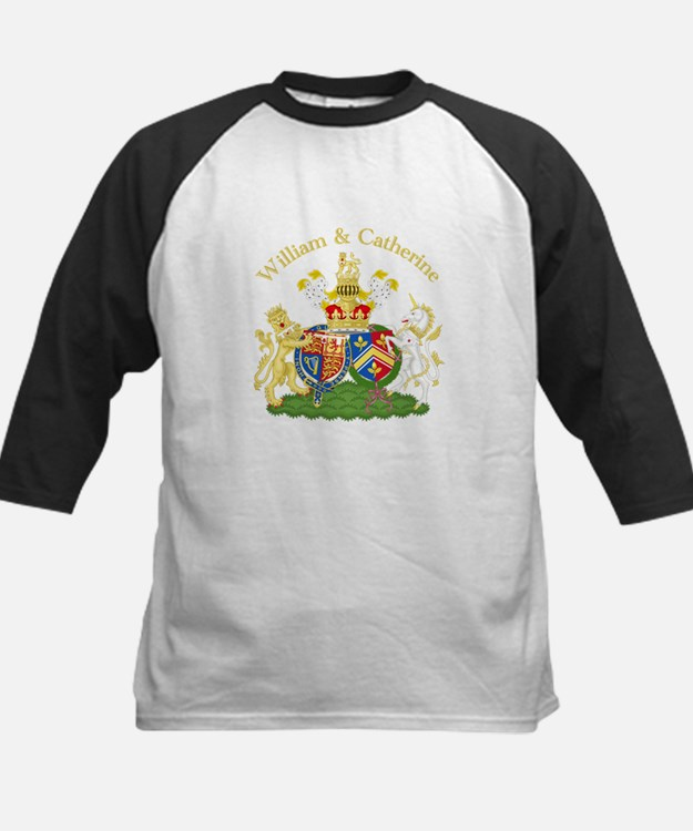 William and Catherine Coat of Arms Kids Baseball J
