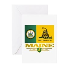 Maine Gadsden Flag Greeting Cards (Pk of 10)