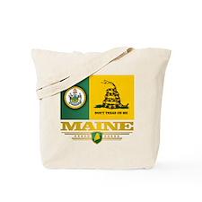 Maine Gadsden Flag Tote Bag