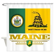 Maine Gadsden Flag Shower Curtain