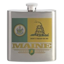 Maine Gadsden Flag Flask