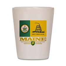 Maine Gadsden Flag Shot Glass