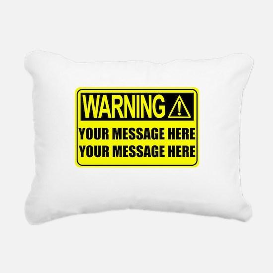 Personalize It, Warning Sign Rectangular Canvas Pi