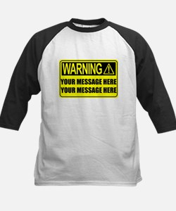 Personalize It, Warning Sign Baseball Jersey