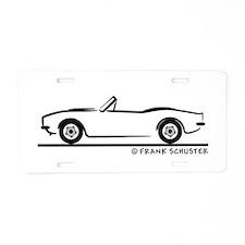 1967, 1968, 1969 Camaro Convertible Aluminum Licen