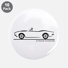 """1967, 1968, 1969 Camaro Convertible 3.5"""" Button (1"""