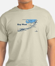 Key West - Map Design. T-Shirt