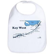 Key West - Map Design. Bib
