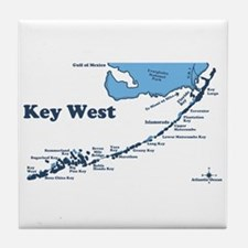 Key West - Map Design. Tile Coaster