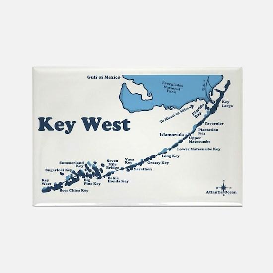 Key West - Map Design. Rectangle Magnet