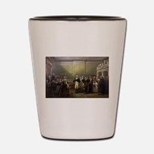 washington resigns Shot Glass