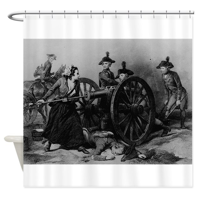 molly pitcher coloring page - molly pitcher shower curtain by artclassics