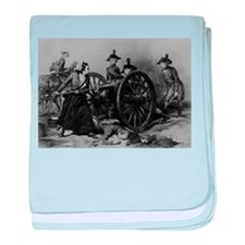 molly pitcher baby blanket