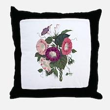 Vintage Morning Glories Throw Pillow