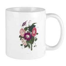 Vintage Morning Glories Small Mugs