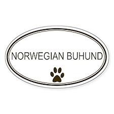 Oval Norwegian Buhund Oval Decal